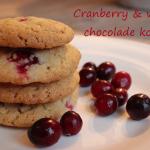 Recept: witte chocolade en cranberry koekjes.