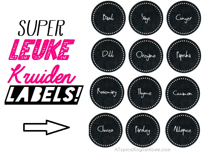 diy labels printables kruiden