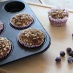 Recept: havermout muffins met blauwe bessen
