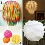DIY: met papieren bollampen.