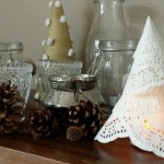 Do it yourself: kerstboompjes van paper doilies!