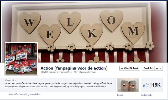action facebook pagina