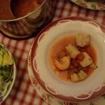 Aan tafel met mam: Bouillabaisse soep met Turks brood en ailoli