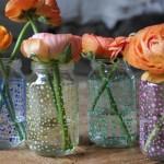 Trouwen: do it yourself bloemenvaasjes