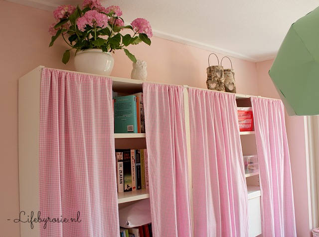Ikea Slaapkamerkast : ... yourself: gordijnen voor de Billy boekenkast ...