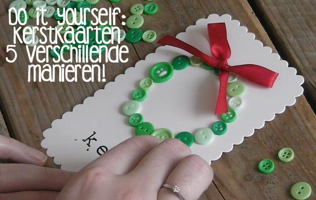 Do It Yourself Kerstkaarten Maken Life By Rosie