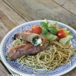 Recept ham spinazie rolletjes met spaghetti