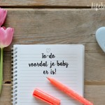 To-do voordat je baby er is!