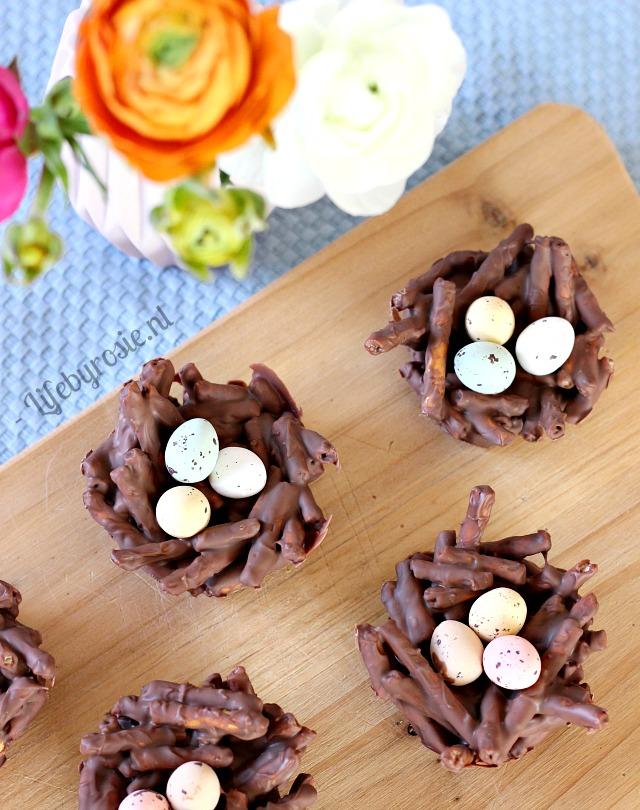 chocolade nestjes Pasen