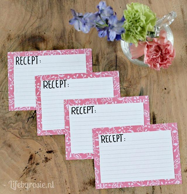 receptenkaarten maken