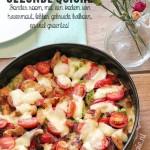 Heerlijke, gezonde quiche met kalkoen, veel groentes en een bodem van havermout
