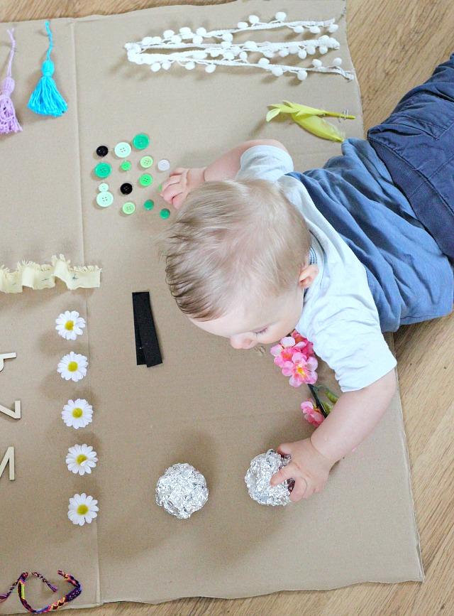 sensory board voor je baby