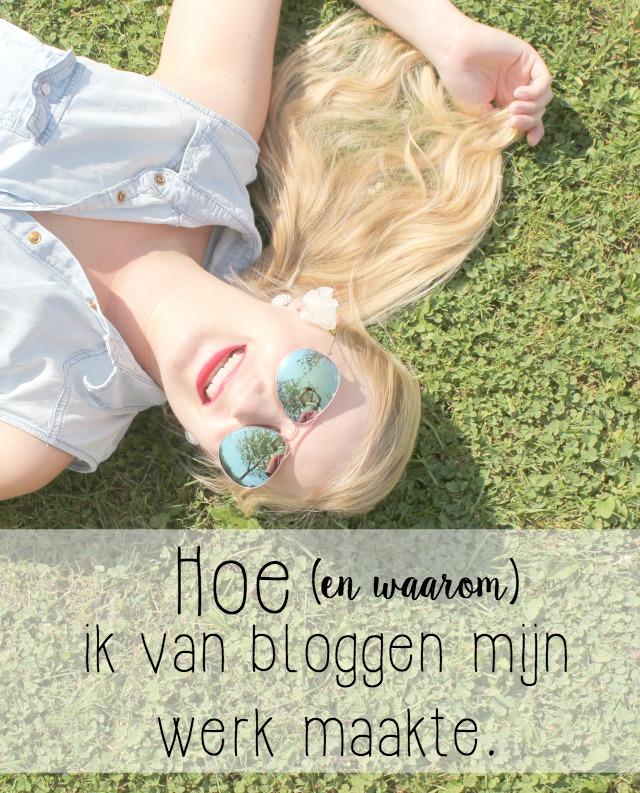 Hoe ik van bloggen mijn werk
