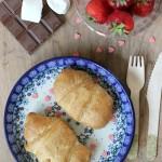 Smores croissantjes met aardbeien