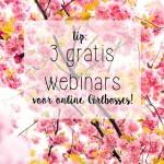 Tip! 3x GRATIS online webinars voor GIRLBOSSES!