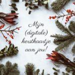Mijn (digitale) kerstkaart aan jou.