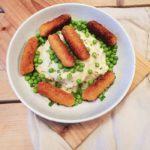 €3,- food challenge: gekruide aardappelpuree met erwtjes en visfriet!