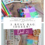 5 'busy bag' ideeën voor rustige momenten met je kind! (deel 2!)