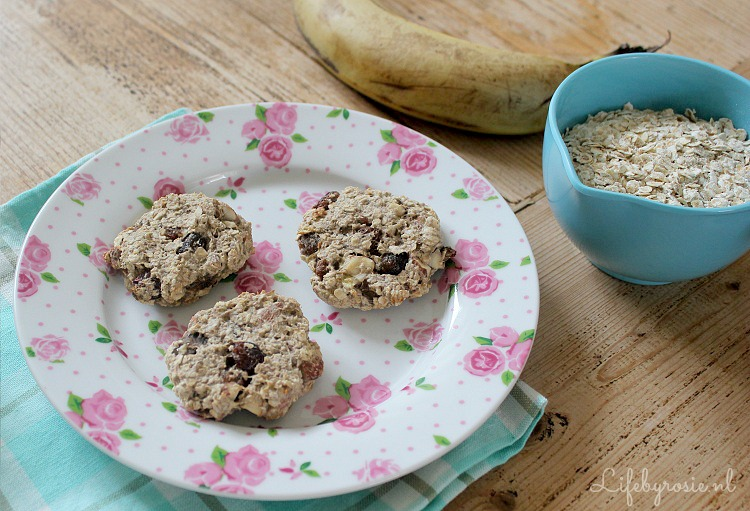 havermout-banaan ontbijt koekjes