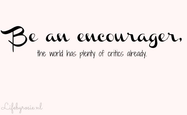 Be an ecourager