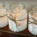 Do it yourself: paper doilie lantaarntjes
