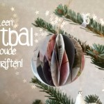 DIY kerstbal vouwen van papier
