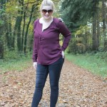 Outfit: herfstig rood
