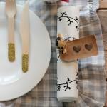 Paastafel servet decoratie