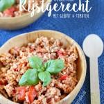 Budgetproof rijstgerecht met tomaten en gehakt