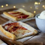 €3,- food challenge: plaattaart met appel, kaneel en slagroom!